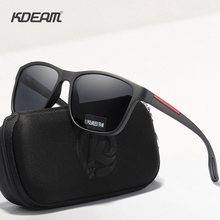KDEAM Flexibility TR90 Men's Polarized Sunglasses Simplistic Design Sun Glasses