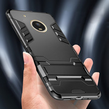 Armor Case For Motorola Moto G6 Plus Case TPU+PC Hard Plastic Kickstand Bumper Cover For Moto G5 E5 G5S Plus Phone Case(China)