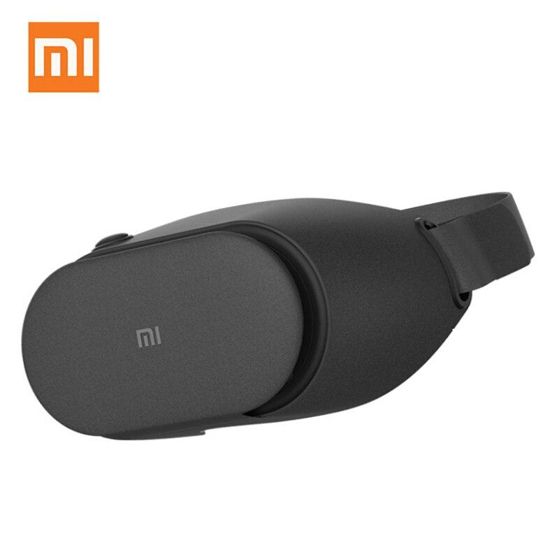 Xiaomi vr play 2 fone de ouvido 3d, óculos de realidade virtual para telefone xiaomi mi vr 4.7- 5.7 com cinema controle do jogo original,