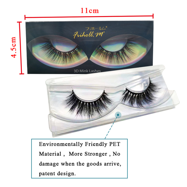 Friholl.m  wholesale 3d mink lashes 8-25mm siberian real mink strip eyelashes mink eyelashes  packaging box 3