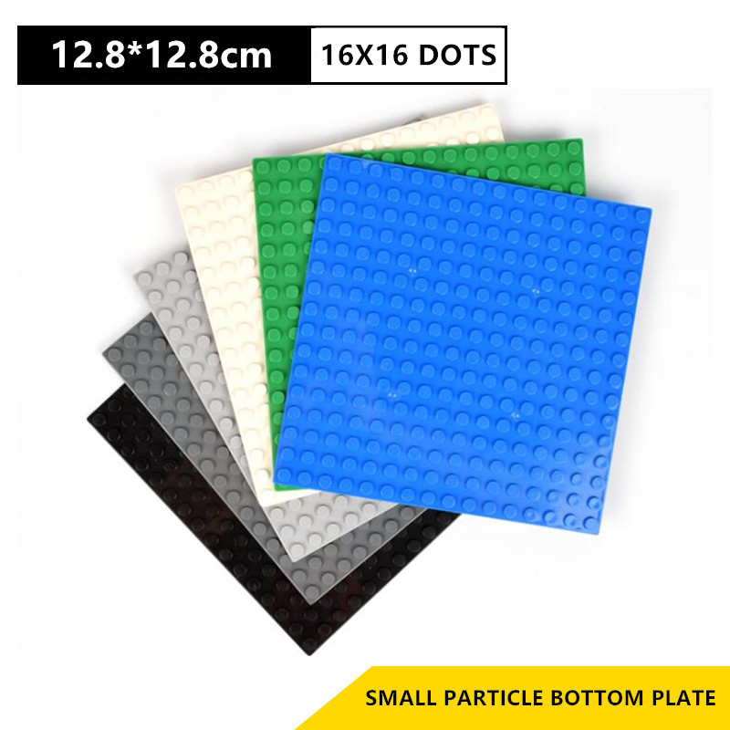 16*16 Dots Base Plate For Small Bricks Baseplate Board City DIY Building Blocks Sets Parts Educational Toys For Children image