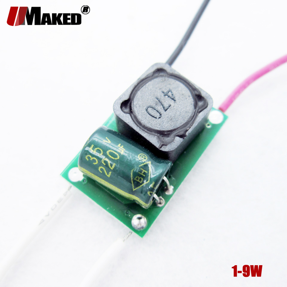 100pcs LED Driver AC/DC12V24V 300mA 1-3W 1-7x1W 4-9x1W 3x3W Inside PCB LED Power Supply Lighting Transformer For LED light lamps