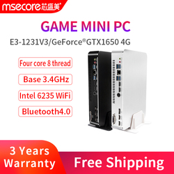 MSECORE Intel E3 1231V3 GTX1650 4G Dedicated card Mini PC Windows 10 HTPC Nettop barebone linux game Desktop Computer 4K  WiFi