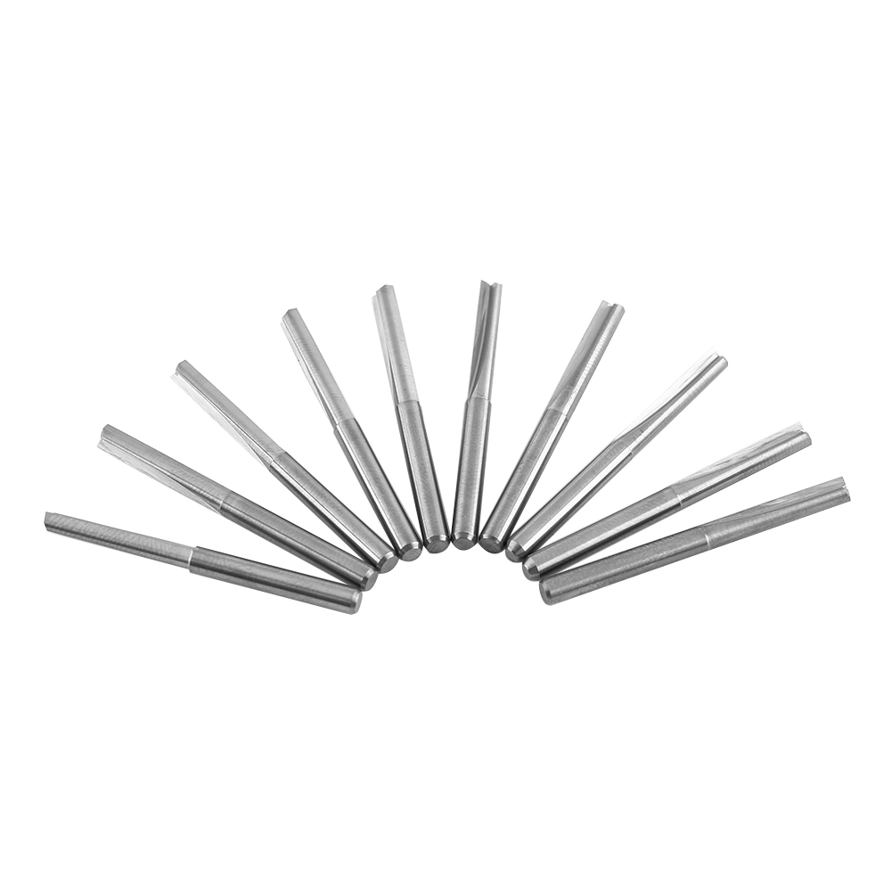 "10pcs 22mm Double 2 Flutes Straight Router Bit  End Mill CNC Milling 1//8/""x 1//8/"""