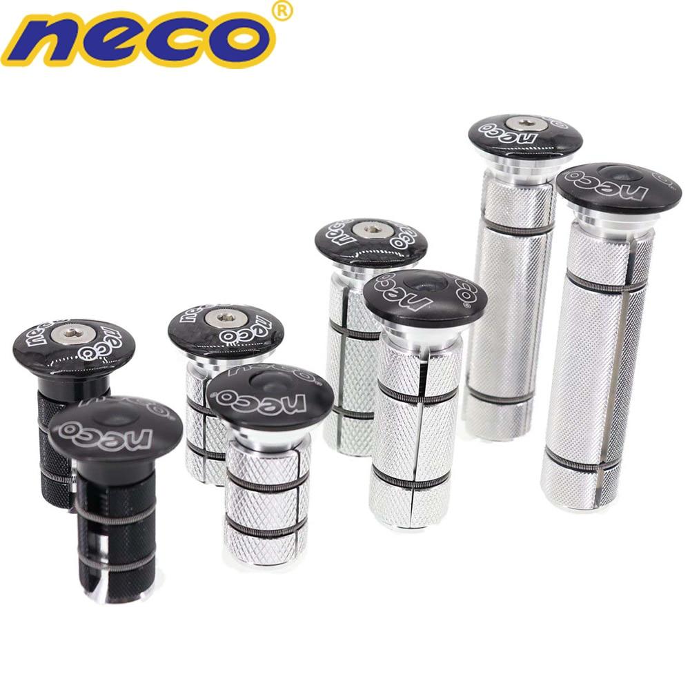 Neco Bike  Headset Stem Top Cap Compression Plug Nut Compressor Expansion Fork Steerer Carbon Fiber Cover Long Large Size