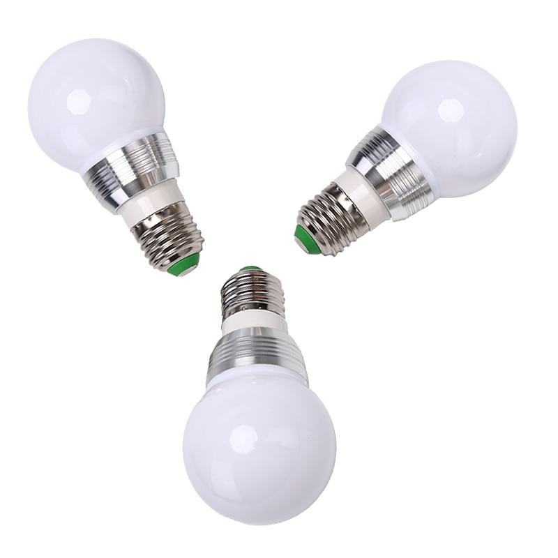 RGB color cambiante E27 RGB bombilla LED lámpara foco IR Control remoto hogar sala de estar decoración de fiesta