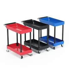 2 Layers Metal RC Car Tools Rack Maintenance Trolley Shelf for 1/8 1/10 1/12 1/16 RC Car Spare Parts Tools Rack Maintenance(China)
