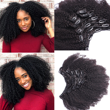 4B 4C Afro Kinky Curly Clip In Human Hair Extensions Brazilian Remy Hair 100 Human Hair