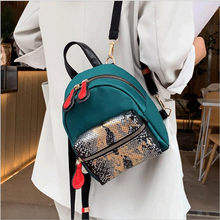 Backpack women 2020 new small backpack mini messenger bag one shoulder wild fashion snake pattern(China)