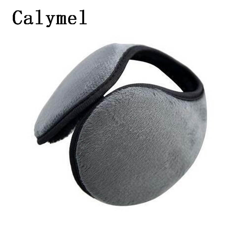 Calymel Fashion Winter Adult Cold Protection Earmuffs Solid Color Practical Keep Warm Plush Earmuffs теплые наушники