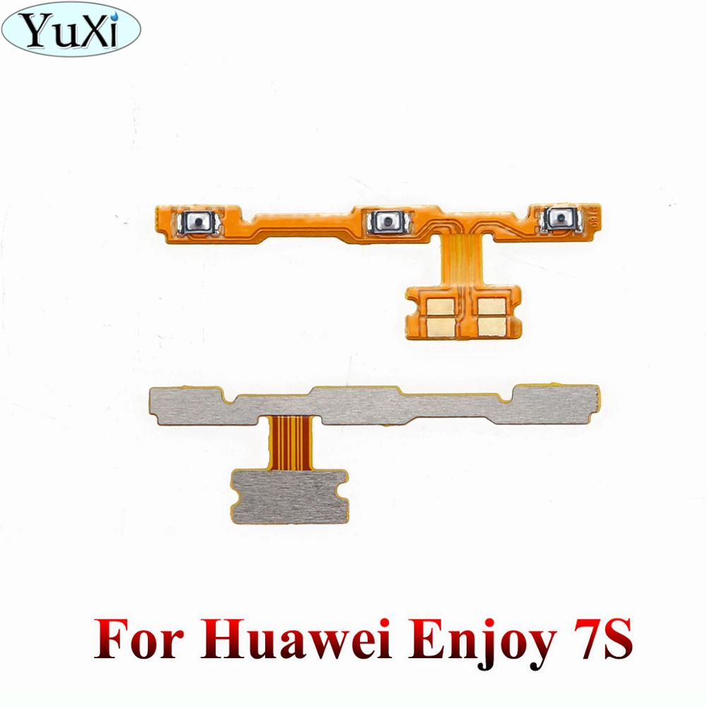 YuXi For Huawei P Smart/ Enjoy 7S FIG-LX1 Power Volume Side Key Button Flex Cable Enjoy 7S On Off Switch Flex Cable Replacement