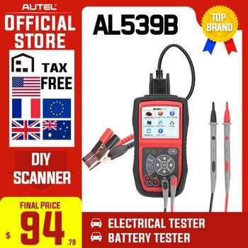 Autel Autolink AL539B OBD2 escáner herramienta de control de batería eléctrica automotriz para odb2 herramienta de diagnóstico EOBD OBD 2 lector de códigos de coche