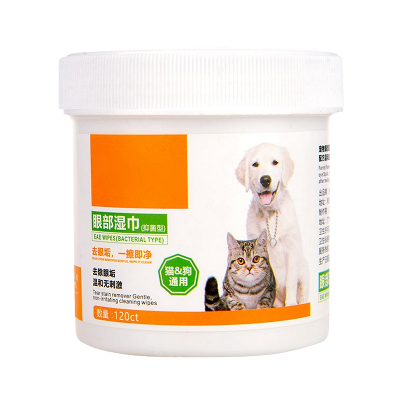 120 Pcs/bottle Aloe Extract Pet Round White Wipes For Dogs Cats Other Pets Safely Gently Clean The Tears Stains  Drop Shipping
