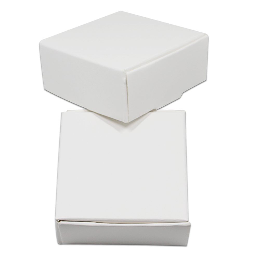 DHL 350 pcs/lot blanc mariage cadeau boîte fête bricolage artisanat bonbons à la main savon paquet boîtes blanc Kraft papier bijoux paquet boîte