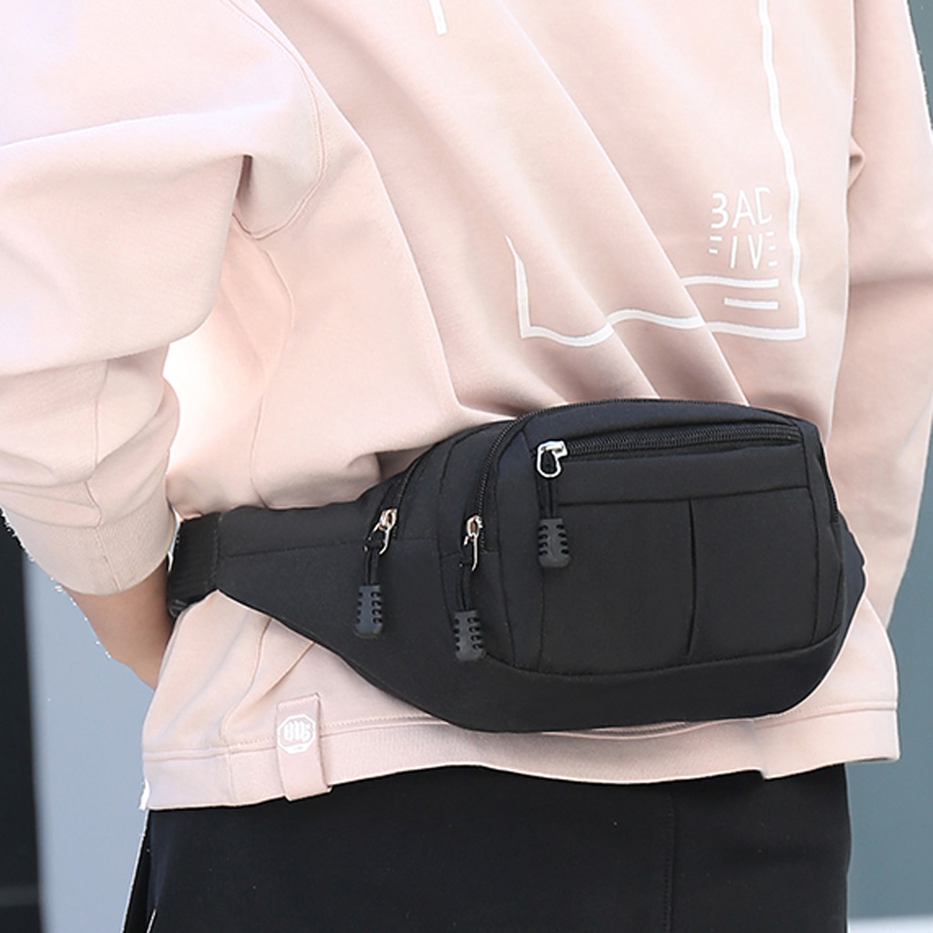 women men fanny pack fashion Canvas Waist Packs heuptas hip bag Women waistband Banana Waist Bags Waist bag women bolso 2020(China)