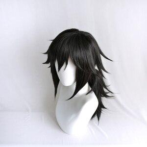 Image 4 - Perruque Kimetsu no Yaiba Tomioka Giyuu, démon Slayer, queue de cheval noire, postiche synthétique résistante à la chaleur pour hommes et femmes