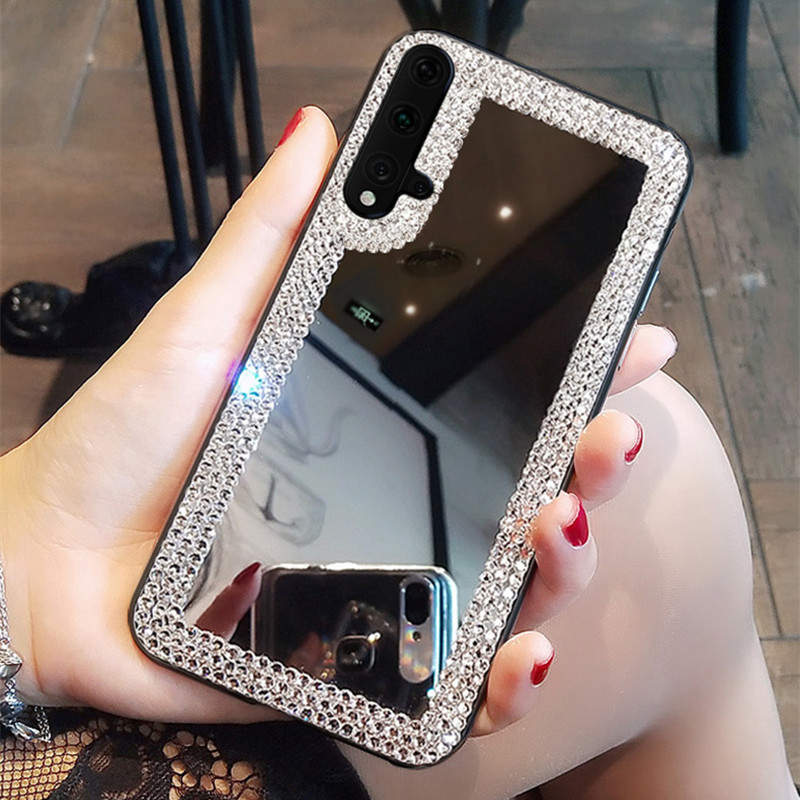 Glitter 3D <font><b>Diamond</b></font> Mirror Phone <font><b>Case</b></font> For <font><b>Huawei</b></font> P8 P9 P10 Plus <font><b>P20</b></font> P30 Mate 9 10 20 30 Pro lite Mirror Soft Phone Cover image
