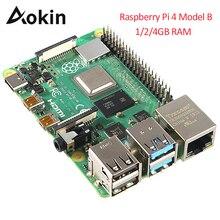 最新ラズベリーパイ 4 モデル B 1 ギガバイト 2 ギガバイト 4 ギガバイトの Ram Bcm2711 クアッドコア Cortex a72 アーム V8 1.5 サポート 2.4/5.0 の無線 Lan 、ブルートゥース 5.0
