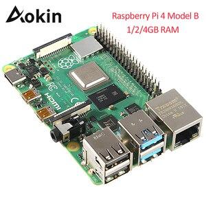 Image 1 - 最新ラズベリーパイ 4 モデル B 1 ギガバイト 2 ギガバイト 4 ギガバイトの Ram Bcm2711 クアッドコア Cortex a72 アーム V8 1.5 サポート 2.4/5.0 の無線 Lan 、ブルートゥース 5.0