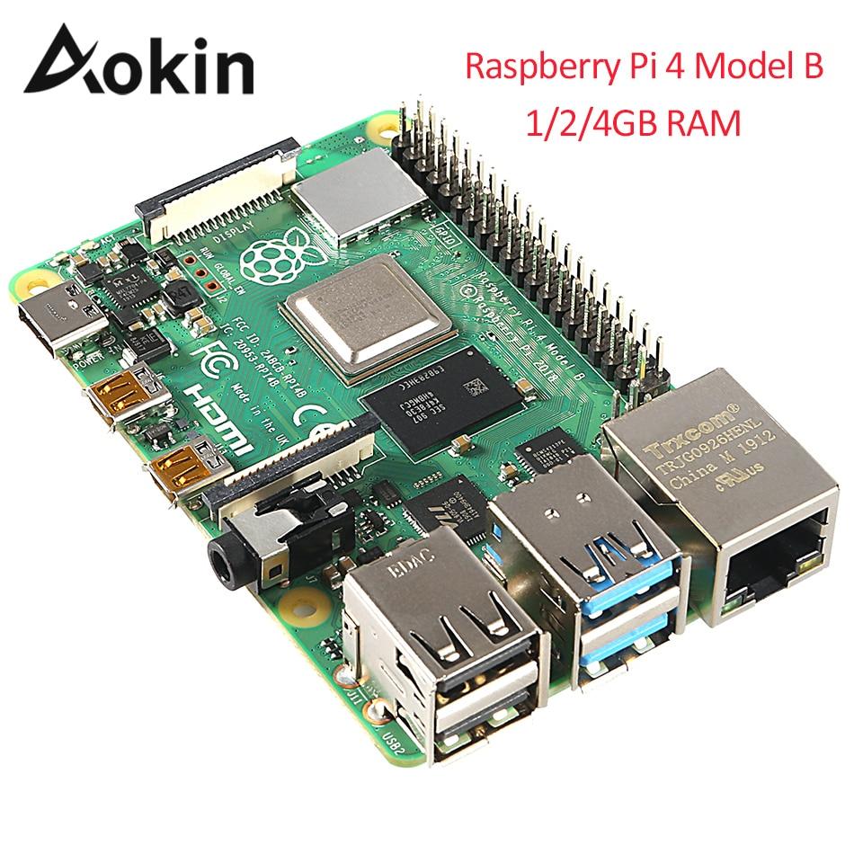 Dernière framboise Pi 4 modèle B 1gb 2gb 4gb Ram Bcm2711 Quad Core bras de Cortex-a72 V8 1.5ghz soutien 2.4/5.0 Ghz Wifi Bluetooth 5.0