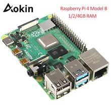 Neueste Raspberry Pi 4 Modell B 1gb 2gb 4gb Ram Bcm2711 Quad Core Cortex a72 Arm V8 1,5 ghz Unterstützung 2,4/5,0 Ghz Wifi Bluetooth 5,0