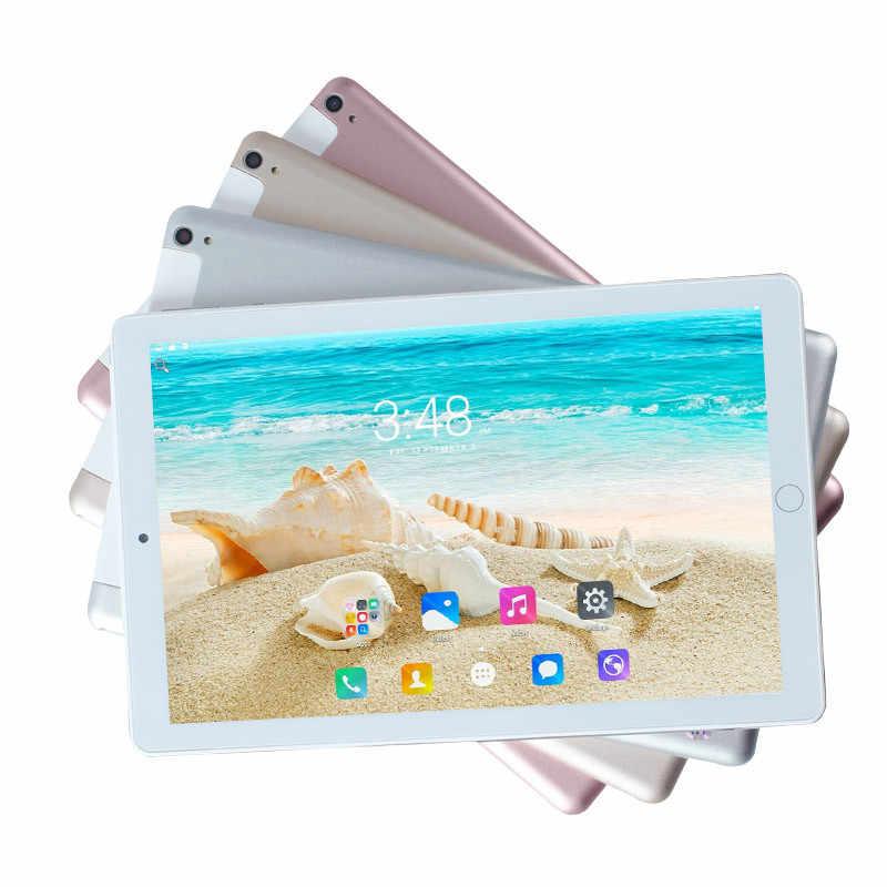 Ücretsiz kargo 10.1 inç tablet 10 çekirdek 6GB RAM 128GB ROM 8MP WIFI 3G 4G FDD LTE kilidini 1920X1200 IPS GPS Android 8.0 tablet