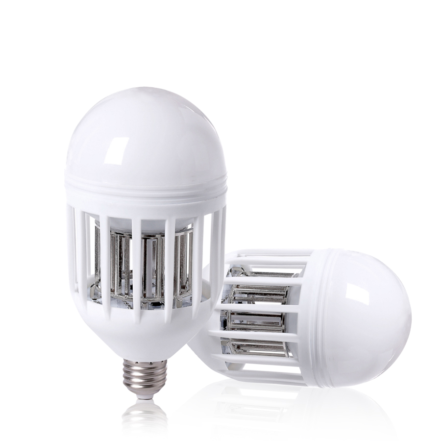 Mosquito killer lamp E27 <font><b>LED</b></font> Bulb <font><b>220V</b></font> <font><b>15W</b></font> Insect Mosquito Repeller Lamp Night Lighting Anti Muggen Light outdoor Dual Use image
