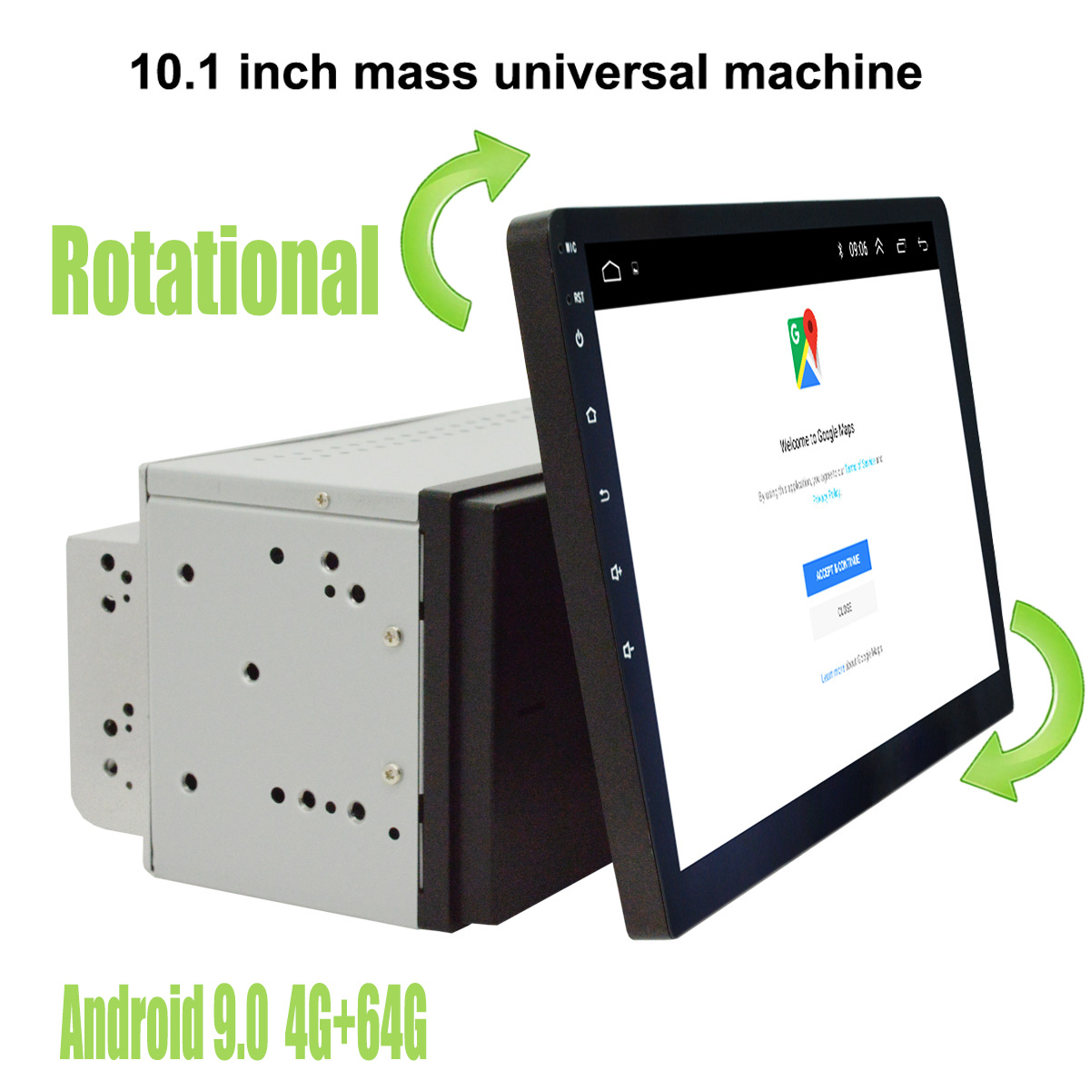 10,1 дюймовый Android 9,0 двойной 2 Din универсальный GPS навигатор автомобильный стерео плеер радио|Мультимедиаплеер для авто|   | АлиЭкспресс