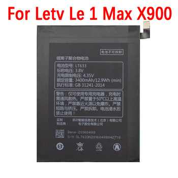 100% Original 3400mAh LT633 Battery For Letv Le 1 Max X900 Le One Max X900 Mobile Phone High quality Battery+Tracking number