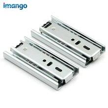 2 pièces de petits tiroirs, glissières de 4 à 8 pouces, Rails de meuble, roulement à billes en acier, 3 Rails enlevés pour Mini Rails de casier