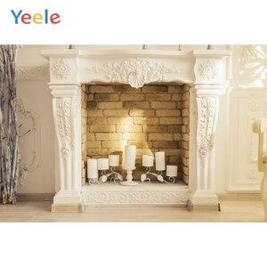Image 4 - Фон для детской фотосъемки с изображением кирпичной стены камина огня зимы