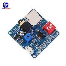Diymore 5W Modulo di Riproduzione Vocale Bordo MP3 del Giocatore di Musica di SD/Carta di TF Integrato I/O Trigger UART protocollo di Controllo per Arduino