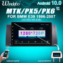 """PX6 9 """"1 DIN Android 10 RADIO samochodowe dla BMW E39 E53 X5 M5 samochodowy sprzęt audio odbiornik stereo radio samochodowe magnetofon nie 2din 2 din DVD"""