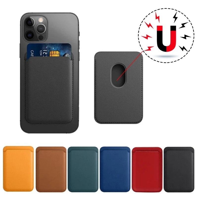Mag adsorbimento-Funda de cuero per iPhone 12 Pro Max 12Mini Macsafe, tarjetero magnético, cubienna del teléfono Ultra fino