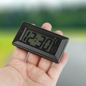 Portable Mini Digital Car Electronic Clock Electronic Watch LCD Display Digital Time Clock For Home Table Automotive Accessories