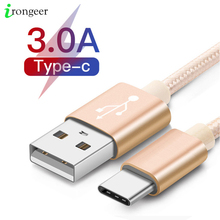 USB Type C Charger Cable For Xiaomi mi note 10 pro USB C Mobile Phone Fast Charging Type C Data Cable Cord For Huawei Mate 30