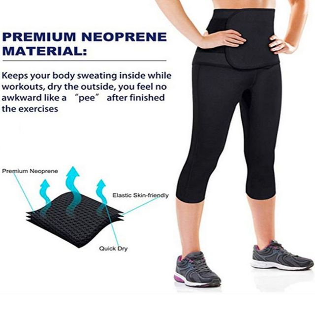 Thermal Sweat Neoprene Slimming Shaping Sauna Belts Yoga Set Gym Clothes Running Tights Women Sports Pants Fitness Yoga New 4