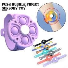 Fidget Spinner Wristband Press Pops Toys Simple Dimple Antistress Fidget Toys for kids Bracelet Push Bubbles Silicone Wristband