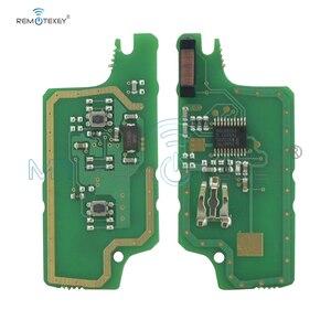 Image 2 - CE0536 MODEL 207 307 308 car Flip remote key 2 Button 434mhz HU83 key blade for Peugeot citroen remtekey