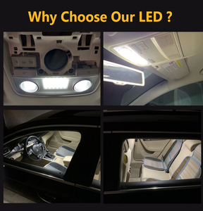 Image 2 - Светодиодные Автомобильные внутренние купольные лампы на крышу для VW Golf Passat Jetta Scirocco Sharan Tiguan Touran Skoda Octavia Superb Seat Alhambra Leon