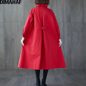 Image 5 - DIMANAF 여성 자 켓 코트 플러스 크기 가을 큰 크기 카디 건 여성 느슨한 겉옷 긴 소매 주머니 지퍼 의류 2021