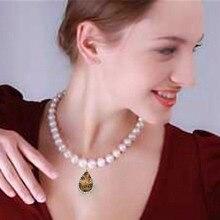 купить YKNRBPH S925 Sterling Silver AAAA Natural Freshwater Pearl Necklace For Women Elegant Weddings Real Pearl Pendant  Jewelry дешево