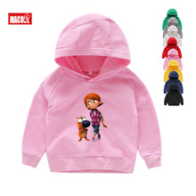 Kids Hoodies Pat The Doy Childrens Fashionable Wear Funny Pink Boy Favorite Cartoon Sweatshirts Pure Cotton Clothing