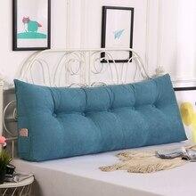 Almofada da cintura da cor sólida do descanso do assoalho da cunha do tatami almofada removível quente do encosto da cama almofadas de leitura longa