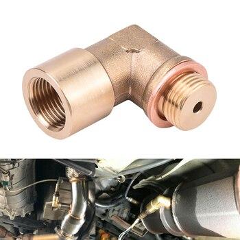 SPEEDWOW 90degree M18x1.5 O2 Lambda Sensor Oxygen Sensor Extender Spacer For Decat Hydrogen Brass new oxygen sensor o2 lambda oxygen sensor 39210 23750 3921023750 for korean car