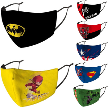 Superhero Iron Man Batman The Flash Hulk Deadpool Captain America Spider Cosplay Face Mask Kids Dust Protection Masks Prop movie captain america 3 civil war captain americamasque mask cosplay prop steven rogers superhero latex helmet halloween party