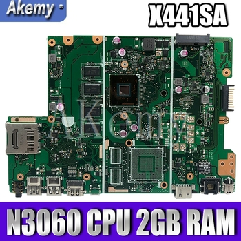 X441SA Motherboard X441SA N3060 CPU 2GB RAM Mainboard For Asus X441S X441SA X441SC Motherboard Test OK for asus a15he a15hc rev 2 1 rev 2 0 notebook motherboard system mainboard physical pictures tested ok before send