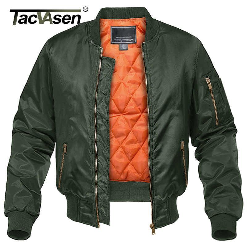 TACVASEN 冬のミリタリージャケット生き抜く男性綿パッド入り飛行 MA-1 ボンバージャケットコートカジュアル野球ジャケット代表チームジャケット