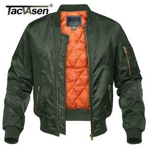 Image 1 - TACVASEN kış askeri ceket dış giyim erkekler pamuk yastıklı Pilot ordu bombacı ceket ceket rahat beyzbol ceketleri üniversite ceketleri