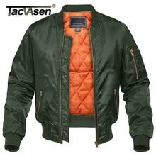 Tacvasen Winter Militaire Jas Uitloper Mannen Katoen Gewatteerde Pilot Army Bomber Jacket Coat Casual Jassen Baseball Varsity Jassen